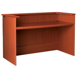 "Circulation Desk Station with Patron Ledge 60""W x 40""H, D35212"