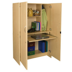 "Teacher Work Center with Pull-Out Laptop Shelf 59""H, P30304"