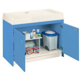 Infant Changing Table with Locking Cabinet, Unassembled, P30368