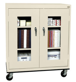 "ClearView Mobile Cabinet 36"" Wide x 18"" Deep x 48"" High, D31138"