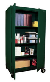 "Mobile Storage Cabinet 66"" High x 36"" Wide, D31134"