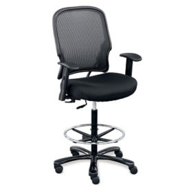 Linear Collection Big and Tall Stool with Arms, C80337