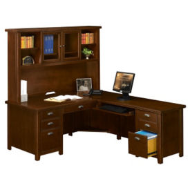 L-Desk with Hutch and Right Handed Return, D31158