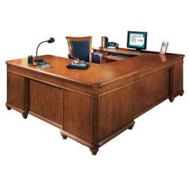Executive U-Desk with Left Bridge, L40394