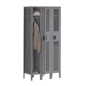 Single-Tier Ventilated Locker - Three  Wide, B30405