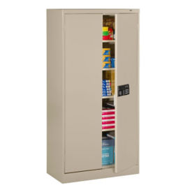 "72""H 18""D Storage Cabinet with Keypad Lock, B34286"