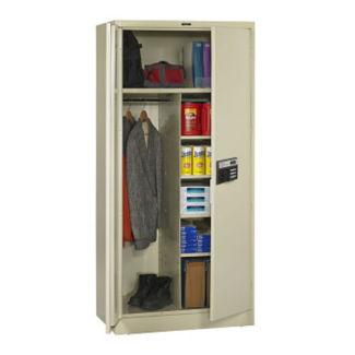 "Keypad Lock Wardrobe and Storage Cabinet - 78"" H, B34417"