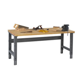 "Wood Top Shop Table 72""W x 30""D, T11286"