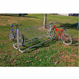 Portable Double Sided Bike Rack 8' Curled Foot, F10259