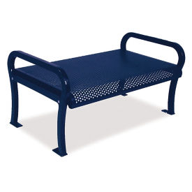 Plastic Coated Outdoor Backless Bench with Perforated Design - 4'W, F10402