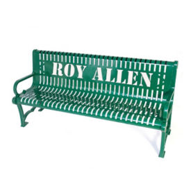 Customizable 6'L Outdoor Bench with Logo, F10273