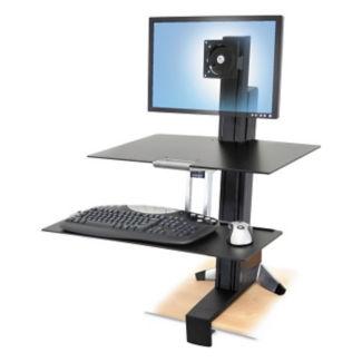 Single Monitor Adjustable Height Desktop Mount, E10009