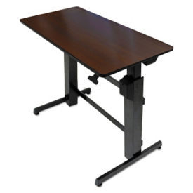 "Adjustable Height Computer Desk with Hand Brake - 26""D x 47.6""W, E10014"