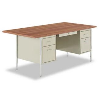 """Double Pedestal Desk 72"""" x 36"""", D35075"""