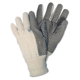Cotton Canvas Gloves with PVC Dotted Palm Box of 12, H10056