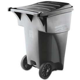 Heavy Duty Rolling 95 Gallon Trash Bin with Lid, R20216