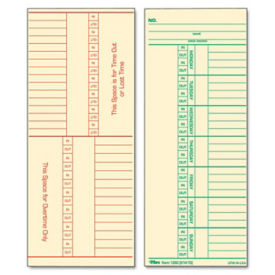 Time Clock Cards Box of 500, V21369