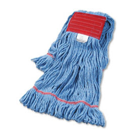 Blue Super Looped Large Sized Wet Mop Head - Carton of Twelve, V21785
