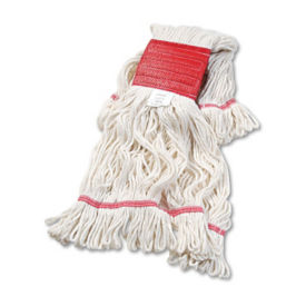 White Super Looped Large Sized Wet Mop Head - Carton of Twelve, V21787