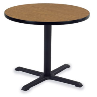 "Round Table with Cast Pedestal Base 42"" Diameter, T10616"