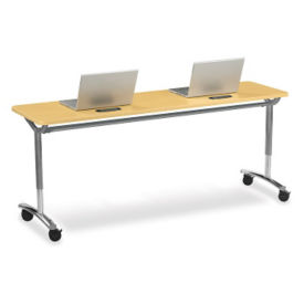 "Adjustable Height Table with Grommets 60"" x 62"", A11005"