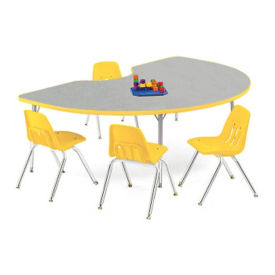 "Kidney Shaped Activity Table 72"" x 48"", A10991"
