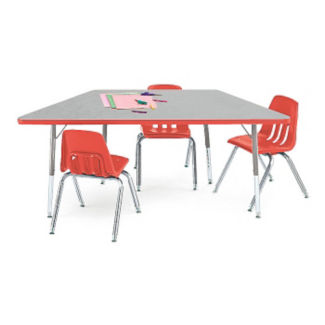 "Trapezoid Shaped Activity Table 60"" x 30"", A10992"