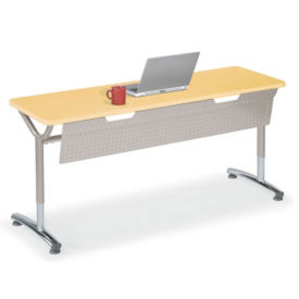 "Adjustable Height Table with Modesty Panel 60"" x 20"", A11034"