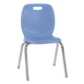 "Polypropylene 18""H Classroom Stack Chair, C70034"