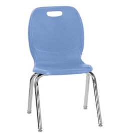 "Polypropylene 18""H Large Seat Classroom Stack Chair, C70035"