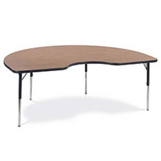 "Kidney Computer Table 72"" Wide x 48"" Deep, D60079"