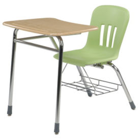 Plastic Top Combo Desk with Bookrack, J10015