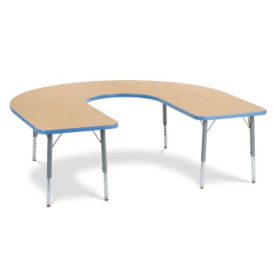 "Horseshoe Shaped Activity Table 66"" x 60"", A10993"