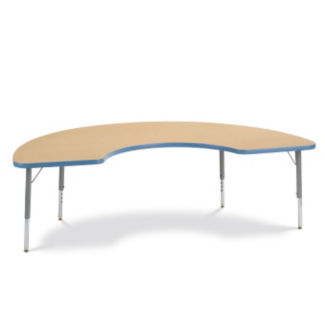 "72"" x 36"" Half-Moon Shaped Activity Table, A10996"