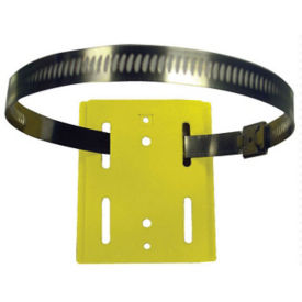 Hose Clamp Mount Wall Plate for Wall Mounted Barrier , V21894