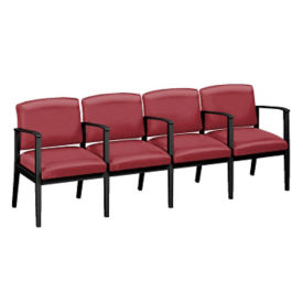 Polyurethane Four Seat Sofa with Center Arms, W60850