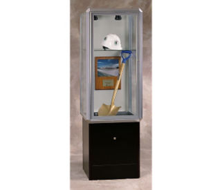 "24""W Lit Tower Display Case, B32123"