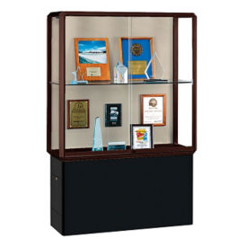 "Two Shelf Display Case with Display Lighting - 72""H, B34503"