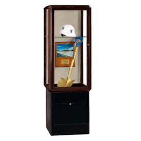 "Two Shelf Display Case with Built-In Lighting - 72""H, B34505"