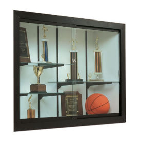 "Recessed Wall Display Case - 48"" x 48"", B34511"