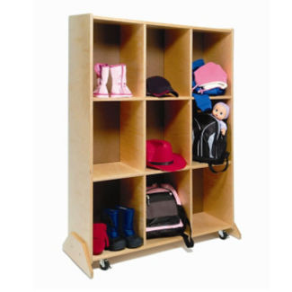 Storage and Dry Erase Board Double Sided Unit, B30511