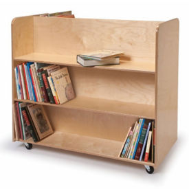 Double Sided Library Cart, B30517