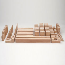 75 Piece Wooden Block Set, V21530