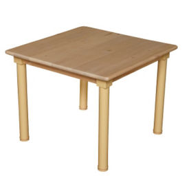 "Solid Birch Adjustable Height Table - 24"" x 24"", A11161"