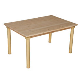 "Solid Birch Adjustable Height Table - 36"" x 24"", A11166"