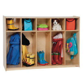 "Five Section Locker for Tots 36""H, B32105"
