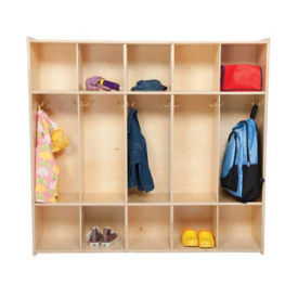 Five Section Solid Birch Locker, B34477