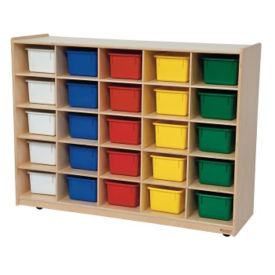 25 Opening Cubby With Trays, D59012