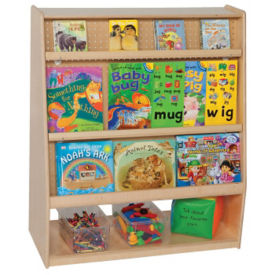 "Double-Sided Bookcase with Storage 36""W x 15""D x 42""H, P30100"