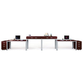 Laminate Two-Person Desk and File Set, D30263